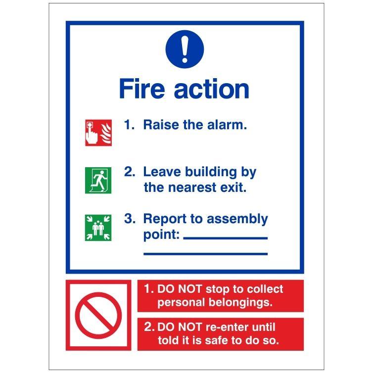 Refuge Fire Action Notice