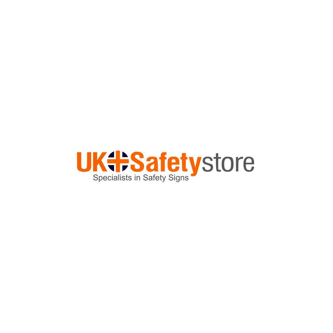 Safe Area 'Arrow Up' Disabled Self Adhesive Symbol Sign 400w x 150hmm