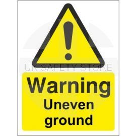 Warning Uneven Ground Sign
