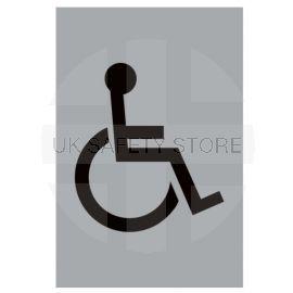 Aluminium Disabled Toilet Sign