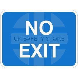 No Exit Traffic Sign