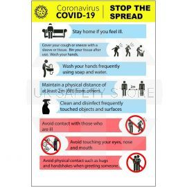 Coronavirus Covid 19 Stop The Spread Sign