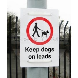 Keep Dogs On Leads Sign