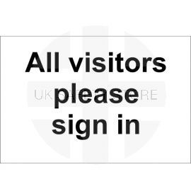 All Visitors Please Sign In Sign 300x200