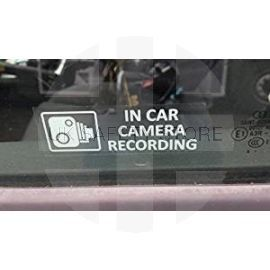 CCTV Window Stickers for Cars & Vans (Pack of 8)