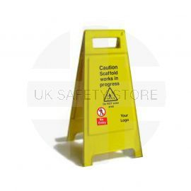 Caution Scaffold Works In Progress Custom Made A Board Freestanding Sign 600mm