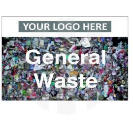 General Waste Custom Logo Recycling Sign