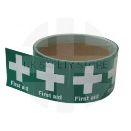 First Aid Symbol Helmet Stickers - Pack of 10