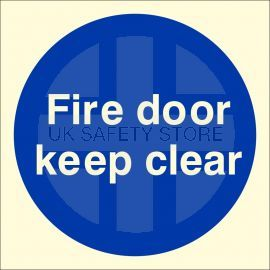 Photoluminescent Fire Door Keep Clear Sign