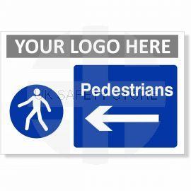 Pedestrians Arrow Left Sign