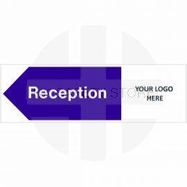 Reception Arrow Left Door Sign