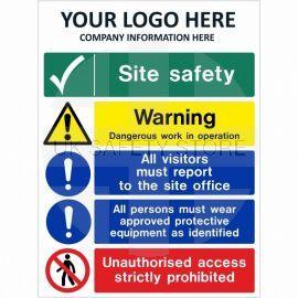 Dangerous Work In Operation Multi Message Safety Board