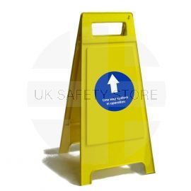 One Way In Operation Freestanding Sign