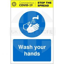 Wash Your Hands Covid-19 Sign