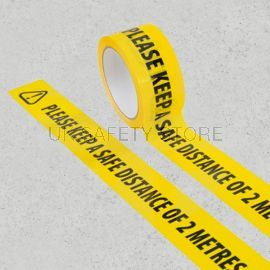 Please Keep A Safe Distance Of 2 Metres Floor Tape