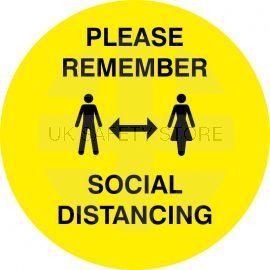 Please Remember Social Distancing Floor Sticker