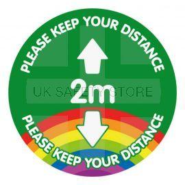 Please Keep Your Distance 2 Metres School Floor Graphic Sticker