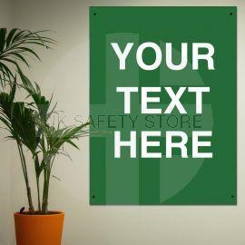 Custom Text Sign