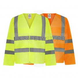 High Visibility Long Sleeve Waistcoat