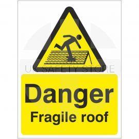 Danger Fragile Roof Sign