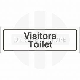 Visitors Toilet Door Sign