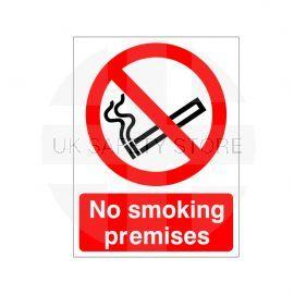 No Smoking Premises Sign