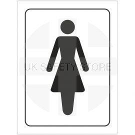 Ladies Toilet Symbol Door Sign