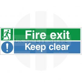 Fire Exit Keep Clear Multi-Message Sign