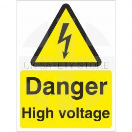Danger High Voltage Safety Sign
