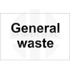 General Waste sign 300x200