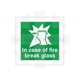 In Case Of Fire Break Glass Sign