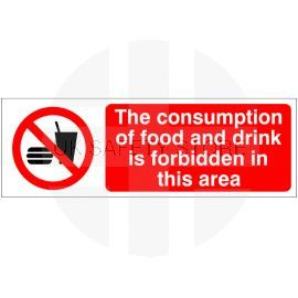 Consumption Of Food Or Drink Forbidden Sign