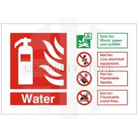 Water Fire Identification Sign