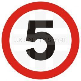 5 MPH Traffic Sign