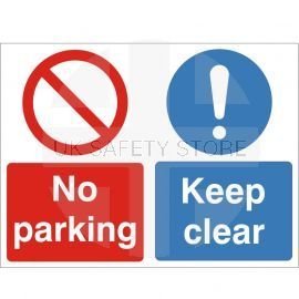 No Parking Keep Clear Sign