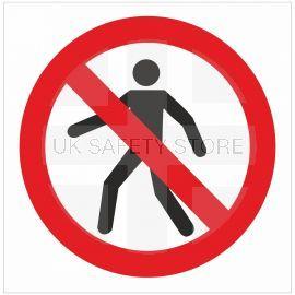 No Pedestrians Symbol Sign - 200w x 200h