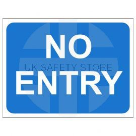 No Entry Temporary Traffic Sign