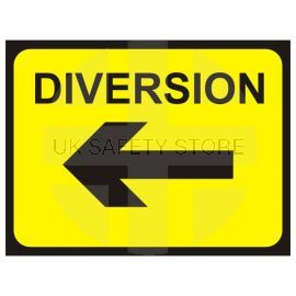 Diversion (Arrow Left) Temporary Traffic Sign