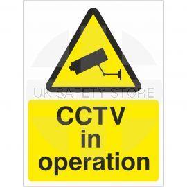 CCTV In Operation Warning Sign