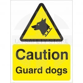 Caution Guard Dogs Signs