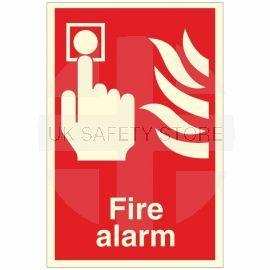 Photoluminescent Fire Alarm Sign