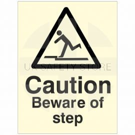 Photoluminescent Caution Beware Of The Step Sign