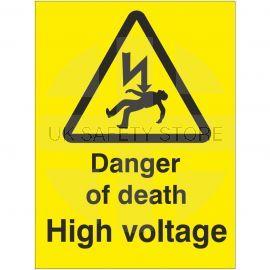Danger Of Death High Voltage Safety Sign