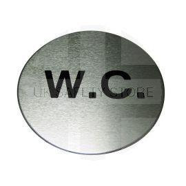 Aluminium WC Toilet Sign