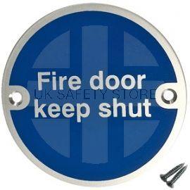 Fire Door Keep Shut Aluminium Door Sign