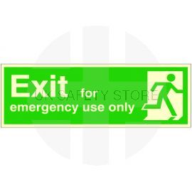 Exit For Emergency Use Only Glow In Dark Sign