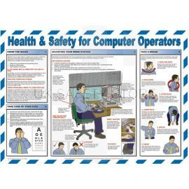 Health & Safety For Computer Operators Laminated Poster