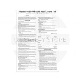 The Electricity At Work Regulations 1989 Poster 400mm x 600mm - Rigid Plastic