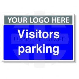 Visitors Parking Custom Logo Sign