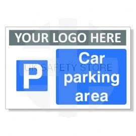 Car Parking Area Custom Logo Sign